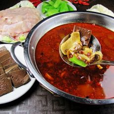 麻辣血旺鱼片火锅的做法
