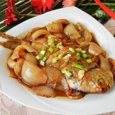 洋葱片红烧鲳鱼