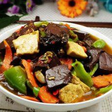 鱼香肉末黑白豆腐的做法