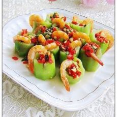 剁椒丝瓜蒸虾