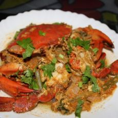泰式红咖喱炒糕蟹