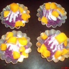 芒果酸奶紫薯泥
