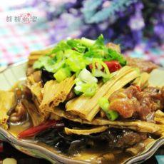 小火慢炖出的营养大餐菜--浓香腐竹炖牛腩