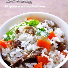 孜然羊肉胡萝卜焖米饭的做法