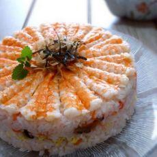 鲜虾寿司蛋糕