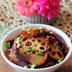 干锅香腊脆藕的做法