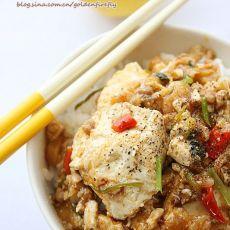 泰式辣豆腐肉末盖浇饭