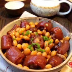 香辣黄豆猪尾煲