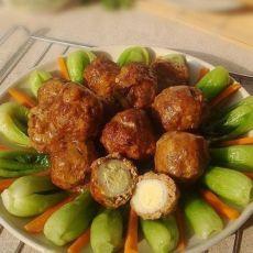 肉包蛋丸-用卤蛋来做肉丸的做法