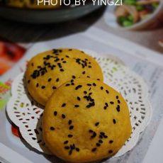 芝麻红薯烤饼