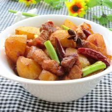 小土豆焖肉