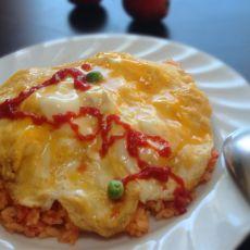 蛋包番茄酱炒饭的做法