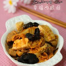 辣白菜炒豆腐的做法
