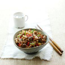 鲜茶树菇爆炒鸭肉