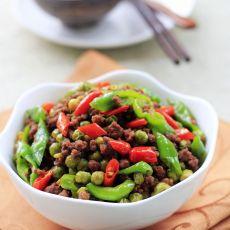 辣炒豌豆牛肉末