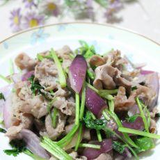 紫洋葱爆羊肉