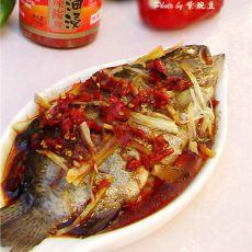 辣酱浇蒸鱼的做法