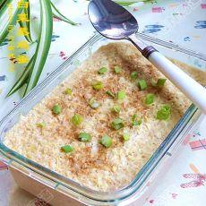 虾酱白菜蒸鸡蛋的做法