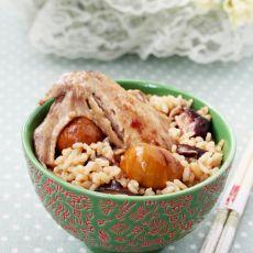 栗子香菇鸡饭