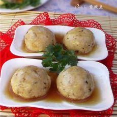 蒸豆腐丸子