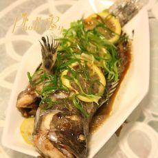 柠檬蒸石斑鱼的做法
