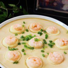 虾仁鸡蛋蒸豆腐的做法