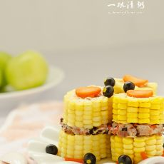 玉米夹肉饼