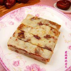 红枣白糖糯米糕的做法