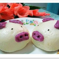 可爱的小猪包子