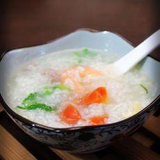 胡萝卜海鲜粥