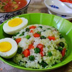 豌豆胡萝卜米饭套餐的做法