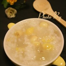 雪蛤莲子白果粥
