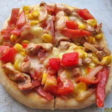 番茄肉丝洋葱披萨―电饭煲版