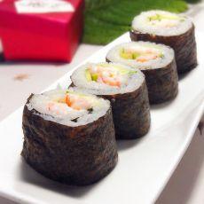 鲜虾紫菜饭卷