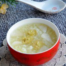 菊花鸭梨粥的做法