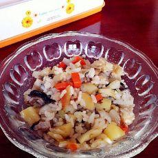 胡萝卜香菇焖米饭的做法