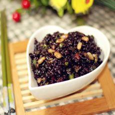 黑米虾仁饭