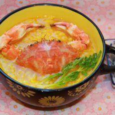 咖喱蟹肉粥