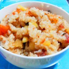 香肠胡萝卜焖饭