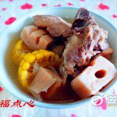 玉米连藕排骨汤