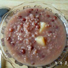红豆米粥的做法