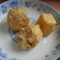 红萝卜猪肉糯米酿豆泡