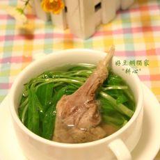 空心菜滚草鸭汤的做法