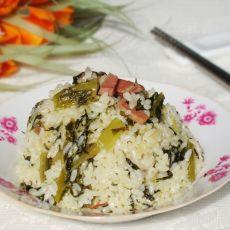 莴笋叶菜饭