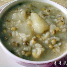 红薯绿豆米粥