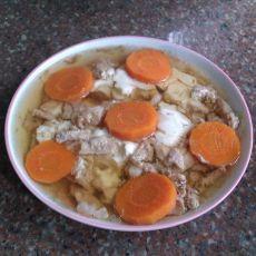 胡萝卜豆腐蒸瘦肉的做法
