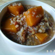 南瓜二麦红米粥