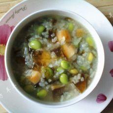 皮蛋紫菜青豆粥的做法
