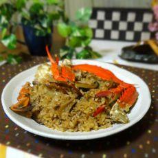 电锅梭子蟹油饭的做法