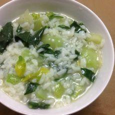 青菜粥的做法